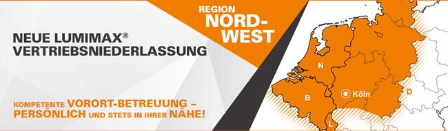 Neue LUMIMAX Vertriebsniederlassung | Region Nordwest