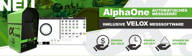 NEU AlphaOne | Automatisches Messgeraet inkl. VELOX Messsoftware