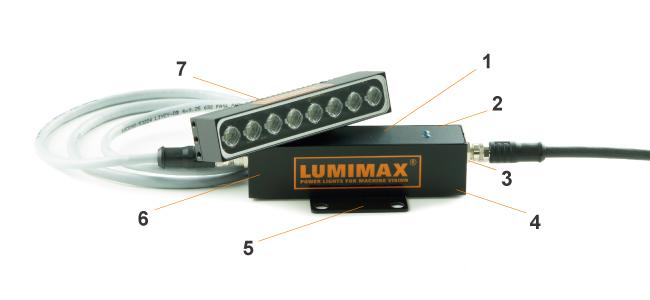 kompakter Blitzcontroller |  praezise und stabil | M8-Steckverbindungen | TTL- und SPS-Triggereingaenge | IP67 Aluminiumgehaeuse | Blitzzeiten: 100 μs | max. 100 Hz; 220 μs | max. 35 Hz | fuer Miniaturbeleuchtungen der LSR- und LSB-Serie