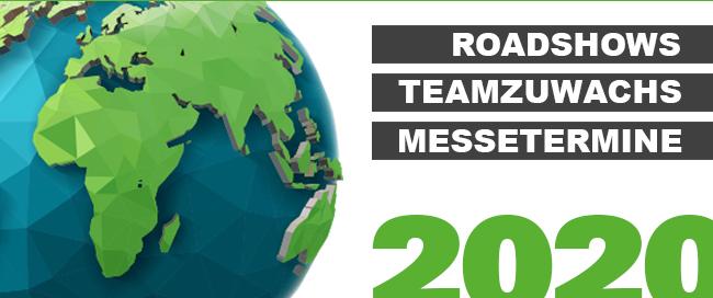 News 2020   Teamzuwachs   Roadshow   Messetermine