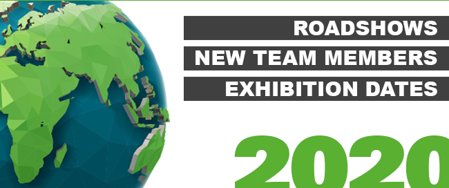 Roadshows | New Team Members | Exhibition Dates